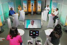 Débat du second tour des élections territoriales sur Martinique la 1ère (23 juin 2021).
