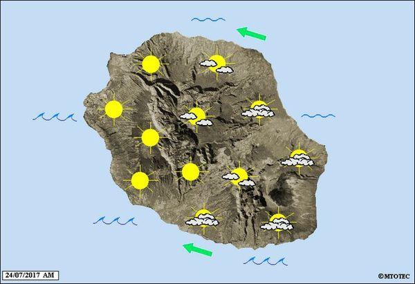 Carte météo du 25 juillet 2017