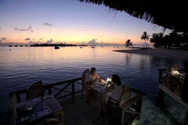Diner de saint valentin aux maldives