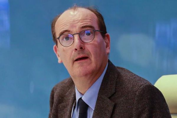 Jean Castex, alors délégué interministériel au déconfinement, lors d'une vidéoconférence, le 29 avril 2020 à Paris.