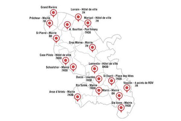 Chik carte actions région