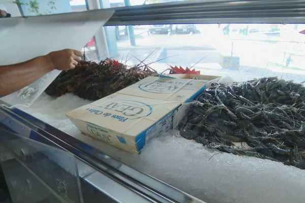 crevettes marché