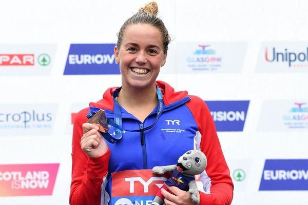 Lara Grangeon Médaille bronze 25 km eau libre championnats Europe natation eau libre