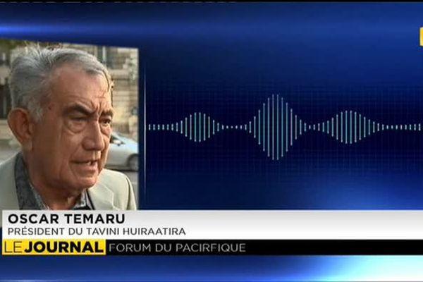 Forum des îles du Pacifique : Oscar Temaru tempère