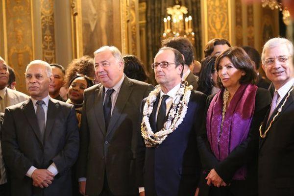 Victorin Lurel, Jean-Paul Huchon, François Hollande, Anne Hidalgo et Claude Bartolone