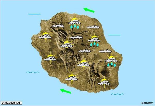 Carte météo 27 février 2020
