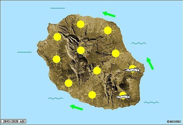 Carte météo 28 janvier 2020