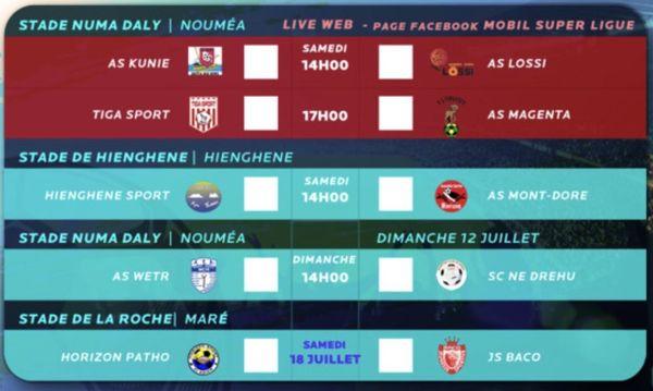 2e journée Super Ligue programme 11 juillet 2020