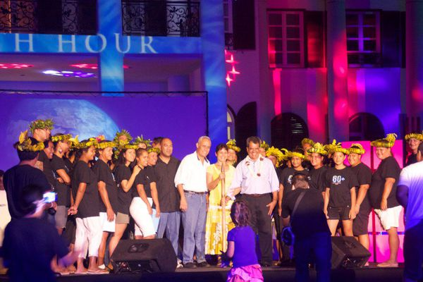 Earth hour Tahiti 2015