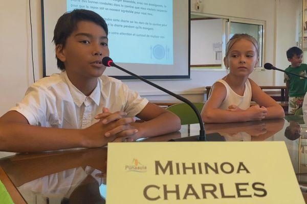 conseil municipal élèves punaauia