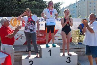 Delphine André, c'est 5 médailles d'or et 3 records de France aux derniers championnats de France sport adapté.