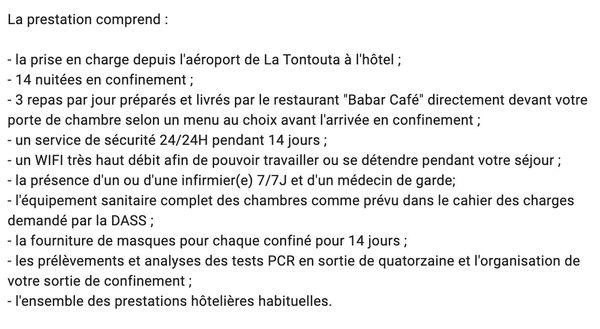Quatorzaine hôtel Beaurivage. les prestations