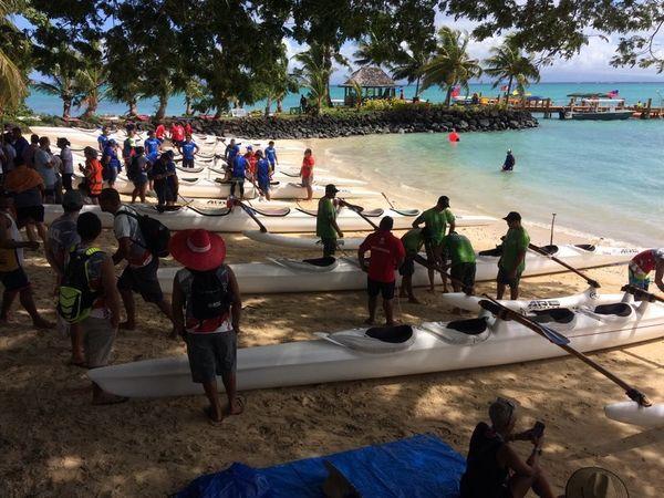Samoa 2019, avant le marathon 24 km des hommes
