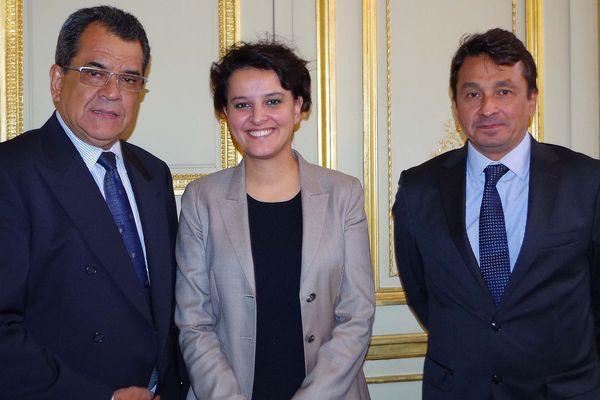 Rencontre à Paris entre E. Fritch, N. Laurey et N. Vallaud Belkacem