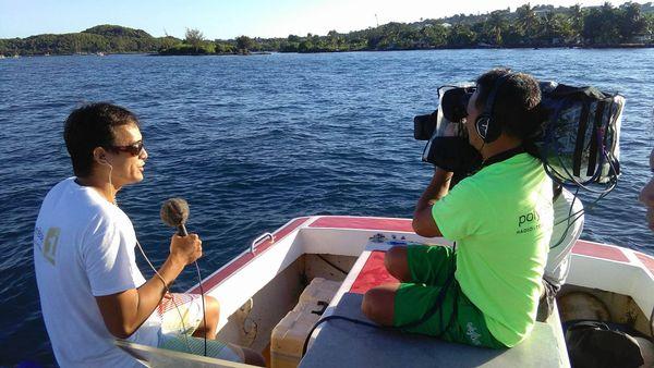 L'équipe Polynésie 1ère s'investit à fond