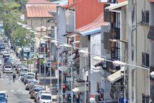 Une des rues du centre ville de Cayenne