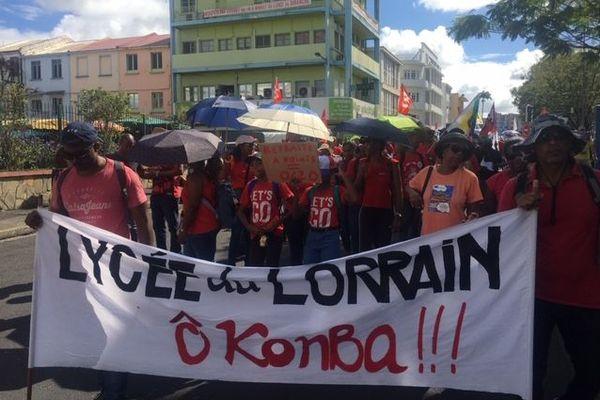 Manifestation lycée Lorrain 24 janvier 2020