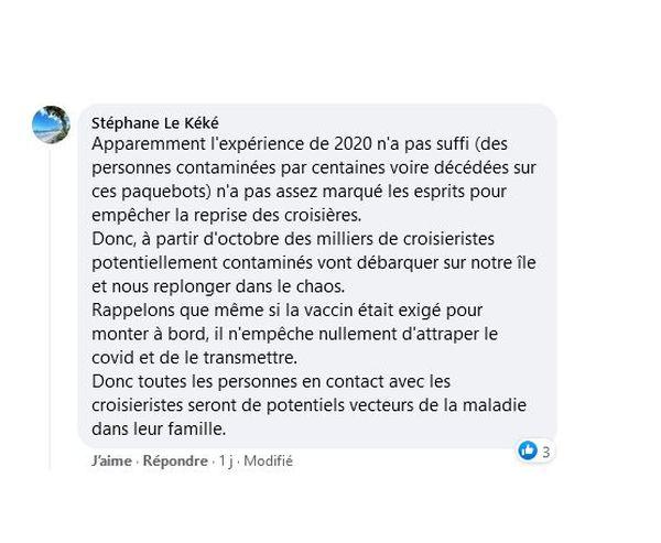 Facebook croisière