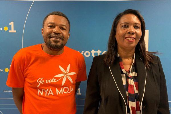 Jacques Martial Henri se présente avec Siti Dhoulfa Madjinda dans le canton de Mamoudzou 1.