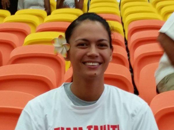 Maea Lextreyt, l'une des deux porte-drapeaux de Tahiti pour la cérémonie d'ouverture des Jeux du Pacifique