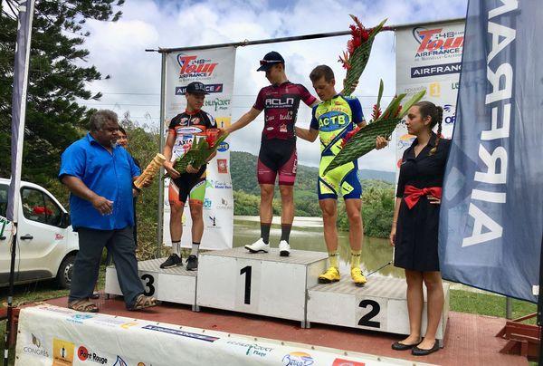 Tour Air France NC: le podium de la première demi étape - 5A -  Houailou/Ponérihouen