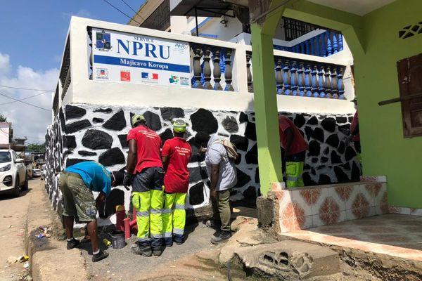 Embellissement façades NPRU Majicavo Koropa Dubai