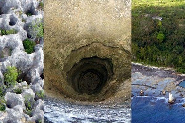 Des géologues à la recherche du phosphate de Makatea