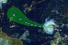Position de la tempête Sam jeudi 23 septembre 2021 à 11h28.
