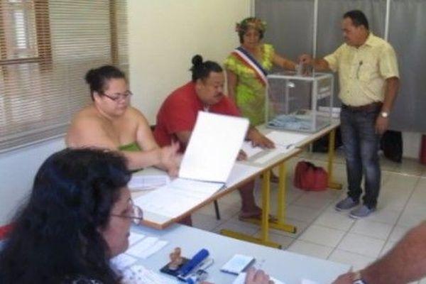 Le scrutin à Nuku Hiva