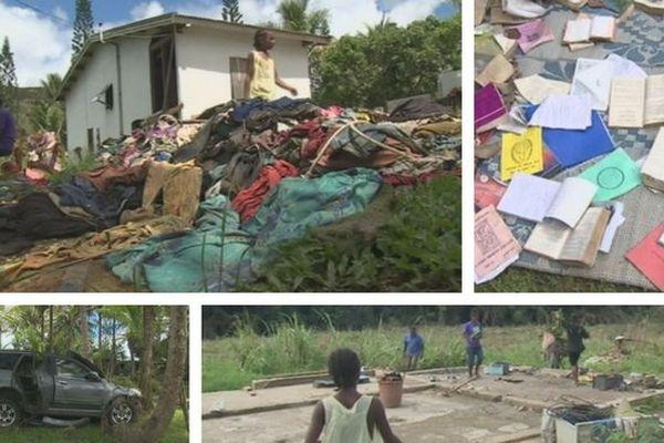Houailou : le nettoyage après les inondations