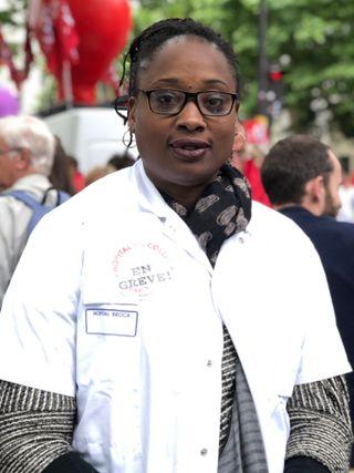 Danielle, infirmière guadeloupéenne à l'hôpital Broca à Paris