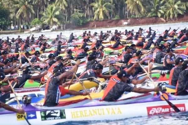 Course rameurs Hawaiki Nui