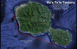 Parcours de la course en haute mer du samedi 27 août