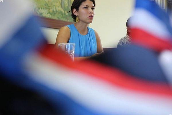 Vanessa Miranville, maire de la Possession.