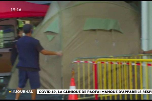 Mise en place de mesures de prévention à l'entrée de la clinique Paofai
