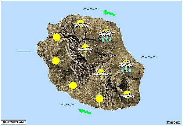 Carte météo 1 juillet 2021
