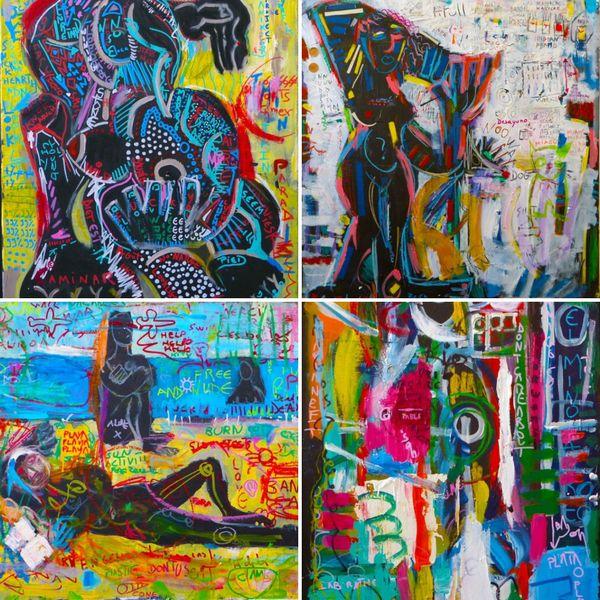 Artiste peintre, Julien estime avoir un style assez varié même si certains le qualifie de «néo-cubiste»
