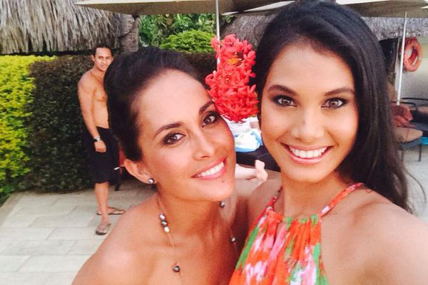 Raipoe Adams Miss Tahiti 2004 et Mehiata Riaria Miss Tahiti 2013