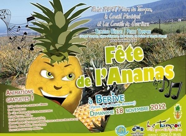 L'affiche de la fête de l'ananas
