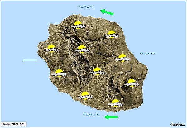 Carte météo 16 septembre 2021
