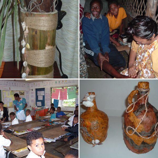 Passionnée de travaux manuels, Françoise a profité de son passage au Vanuatu pour créer des objets de déco