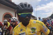 Le vainqueur du Tour au départ de l'étape 8 à Sinnamary