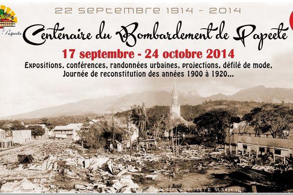 centennaire du bombardement de Papeete