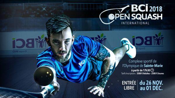 Affiche de l'open de squash 2018
