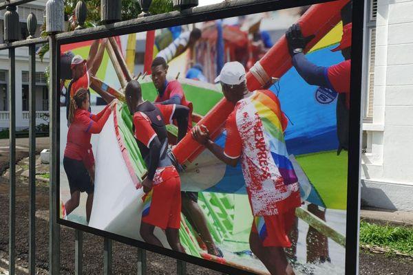 Exposition du tour de Martinique de la yole ronde