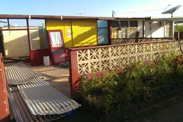 Maison en cours de démolition à la Rénovation Urbaine