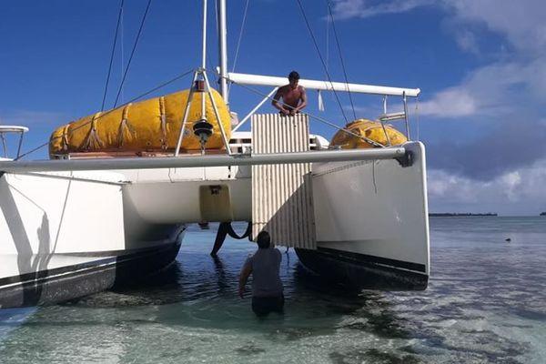 Tetiaroa - navire échoué