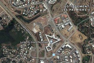 Carte du secteur Coeur de ville - Palmiers 3 à Dumbéa