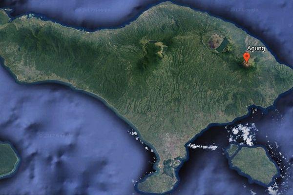 Mont Agung carte de Bali volcan