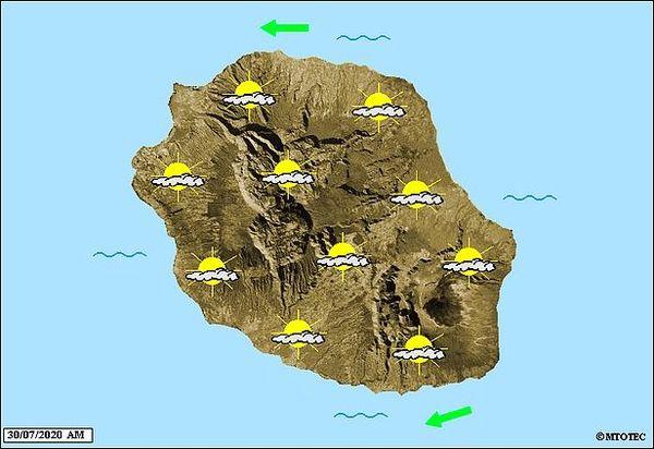 Carte météo 30 juillet 2020